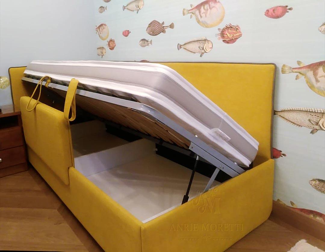 Купить угловую кровать с подъемным механизмом в Москве